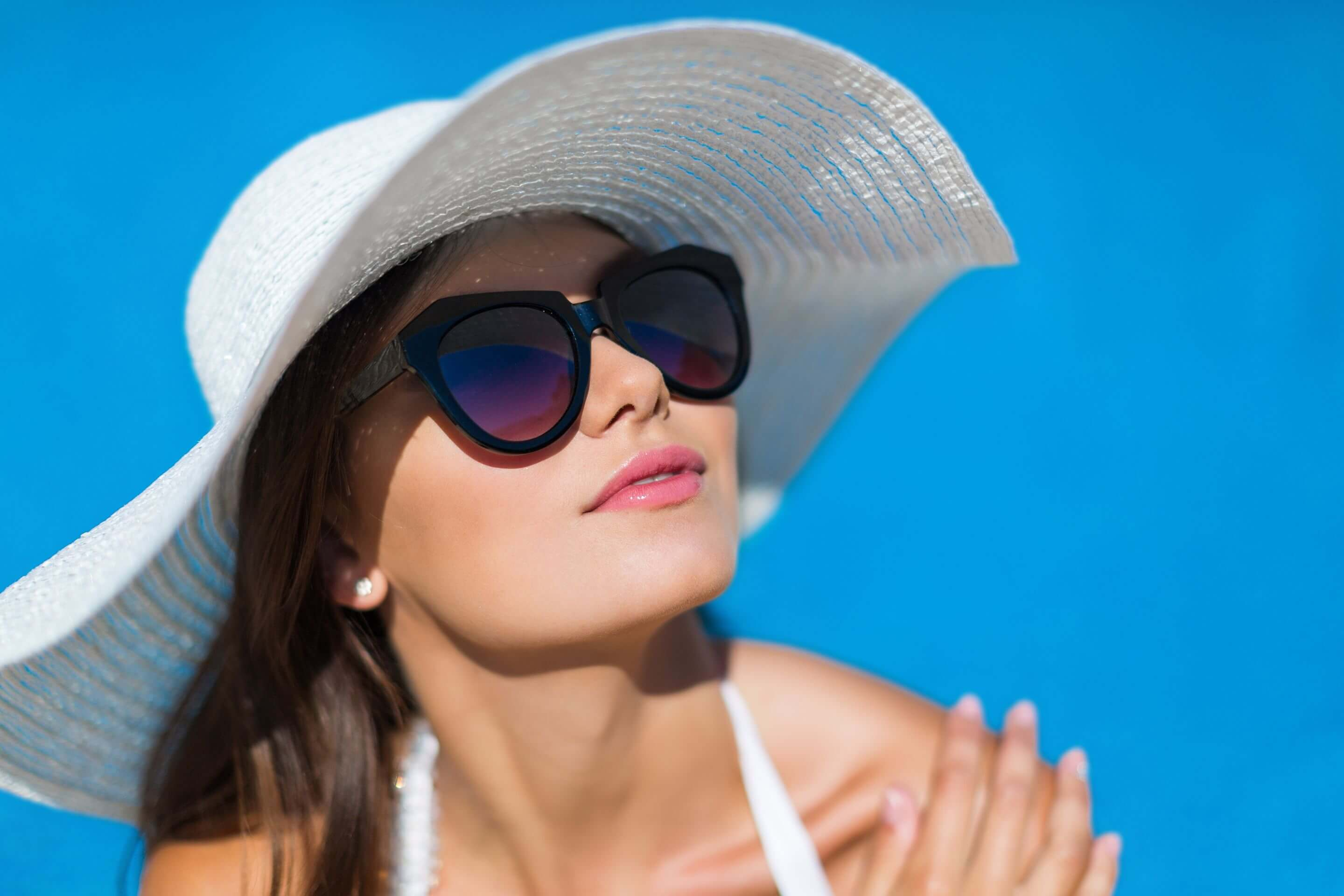 Wear sunglasses to improve your comfort and protect your eyes